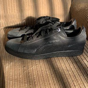 Puma Suede Black Metallic Shoes